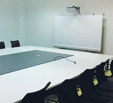 Interaktive Tafel in einem Konferenzraum