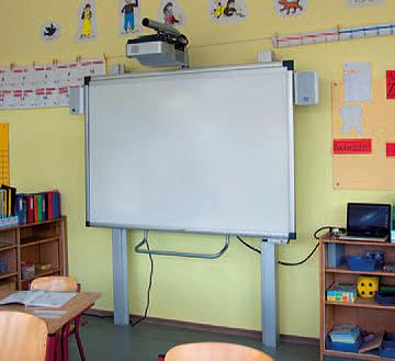 Interaktive Tafel in einer Grundschul-Situation