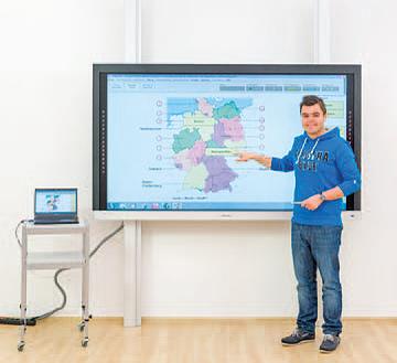 Touchmonitor für Klassenräume