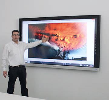 Touchmonitor für Interaktive Präsentationen