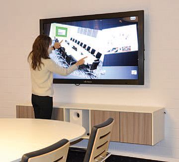 Touchmonitor in Aktion